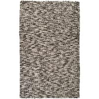 Hand-woven Blackpool New Zealand Wool Plush Textured Area Rug - 8' x 10'