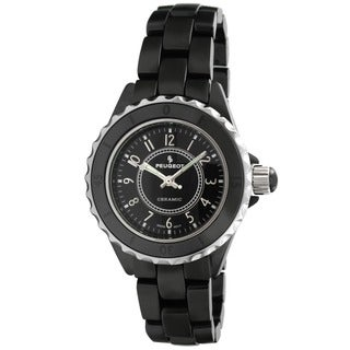 Peugeot Women's Swiss Ceramic Black Sport Bezel Watch