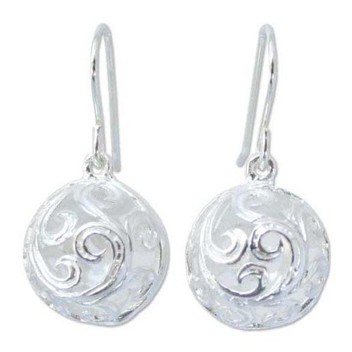 Handmade Sterling Silver 'Arabesque' Earrings (Thailand)