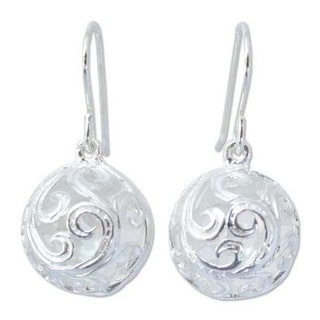 Handmade Sterling Silver 'Arabesque' Earrings (Thailand)