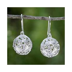 Sterling Silver 'Arabesque' Earrings (Thailand)