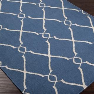 Hand-woven Billingham Wool Rug (5' x 8')