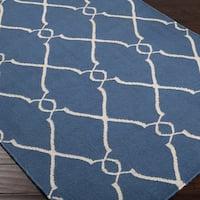 Hand-woven Billingham Wool Area Rug - 5' x 8'