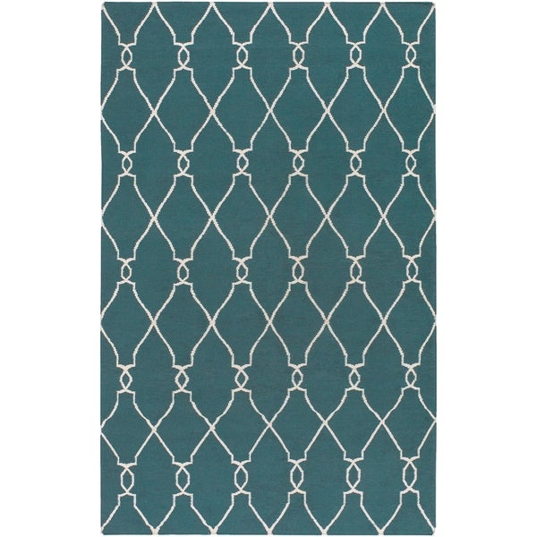 Hand-woven Bewdley Wool Area Rug - 5' x 8'