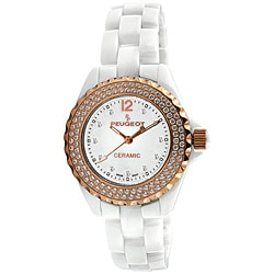 Peugeot Women's Swiss Quartz Ceramic Crystal White-Dial Watch