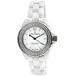 Peugeot Women's Swiss Ceramic Crystal White Dial Watch