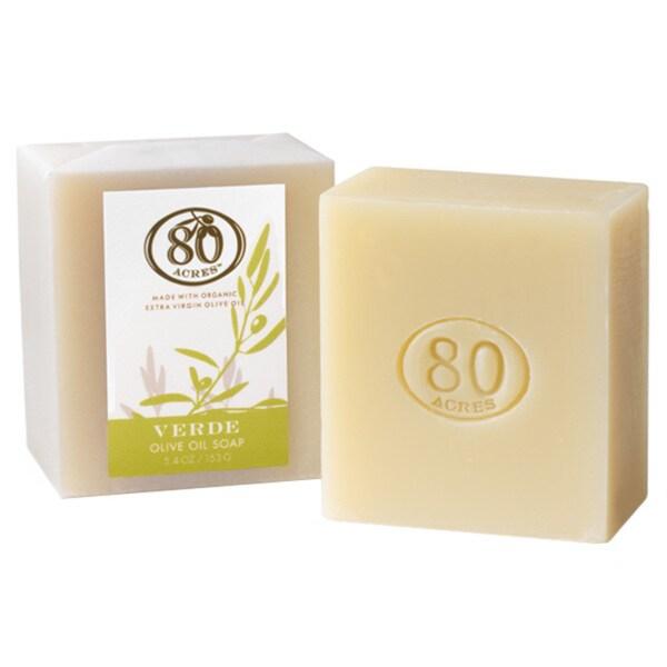 80 Acres 5.4-ounce Verde Olive Oil Soap