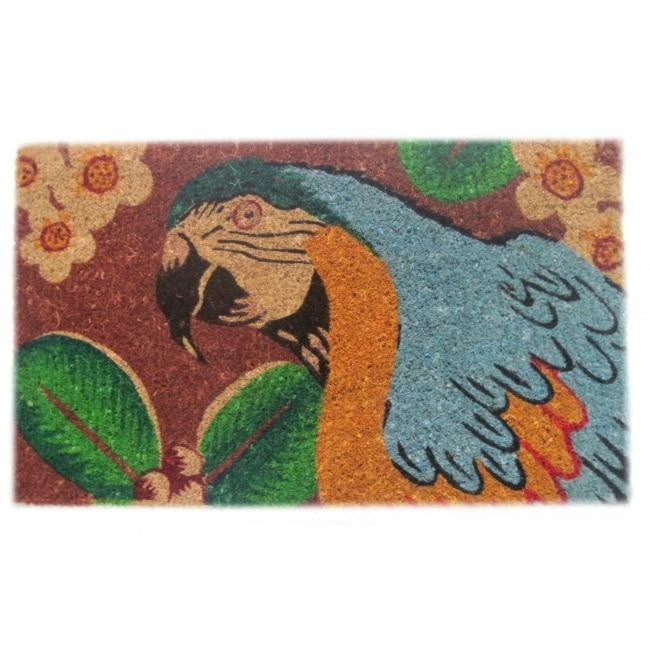 'Bahama Parrot' Coir Door Mat