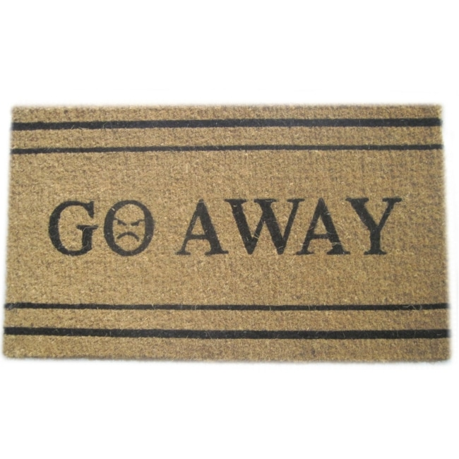 39 Go Away 39 Coir Door Mat Free Shipping On Orders Over 45