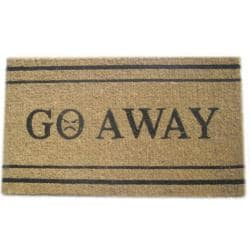 'Go Away' Coir Door Mat