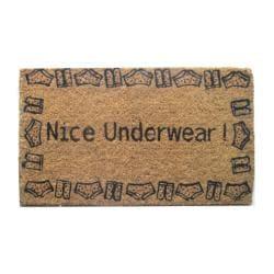'Nice Underwear' Coir Door Mat