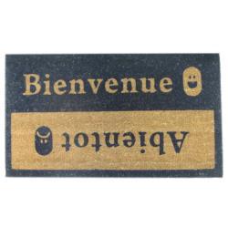 'Beinvenue-Abientot' Coir Door Mat