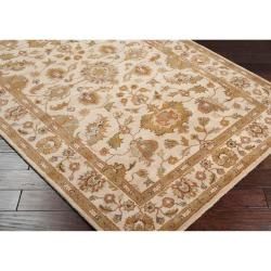 Hand-tufted Ashford Ivory Floral Border Wool Rug (12' x 15') - Thumbnail 1