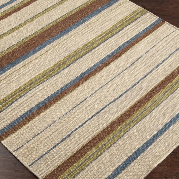 Hand-woven Frontier Wool Rug (8' x 11')