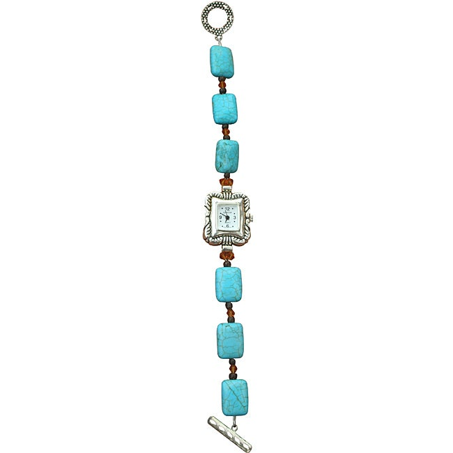 Nevada Pilot Mountain Blue Turquoise and Crystal Watch