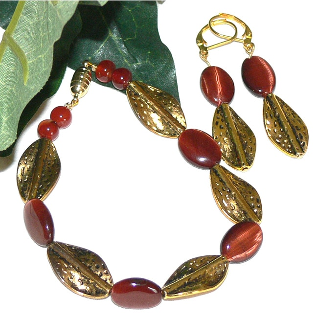 Susen Foster Designs 'Red Satin' Jewelry Set