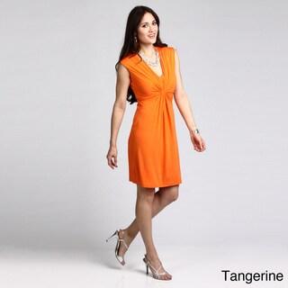Calvin Klein Women's Twisted V-neck Dress
