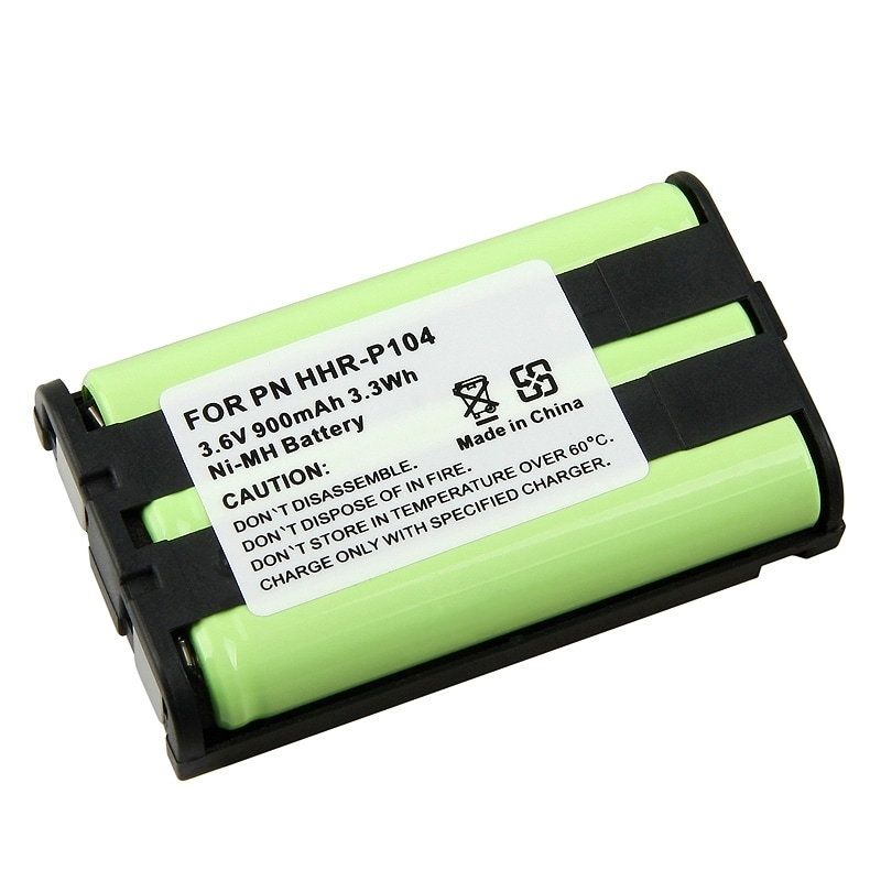 INSTEN Ni-MH Cordless PVC Phone Battery for Panasonic HHR-P104 (Pack of 2)