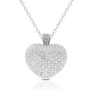 Finesque Silver Overlay Diamond Accent Heart Necklace|https://ak1.ostkcdn.com/images/products/6370366/P13986877.jpg?impolicy=medium