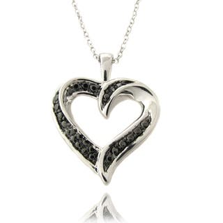 Finesque Silverplated Black Diamond Accent Heart Necklace|https://ak1.ostkcdn.com/images/products/6370390/6370390/Finesque-Silver-Overlay-Black-Diamond-Accent-Heart-Necklace-P13986879.jpg?impolicy=medium