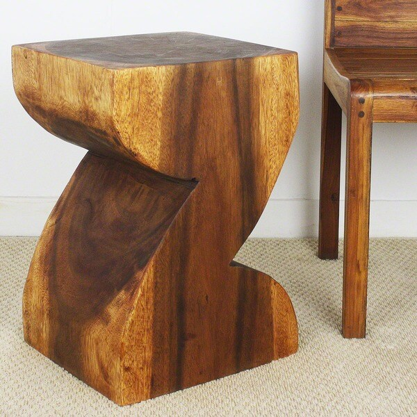 Handmade Chestnut Wood 'Zat' End Table (Thailand)