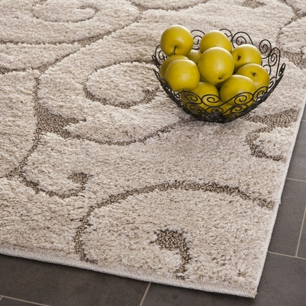 "Safavieh Florida Ultimate Shag Cream/ Beige Rug (3'3"" x 5'3"")"