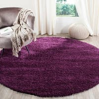 "Safavieh California Cozy Plush Purple Shag Rug - 6'7"" x 6'7"" round"