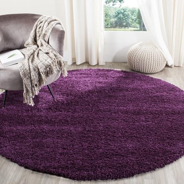 Safavieh California Cozy Plush Purple Shag Rug (6u0027 7 Round)