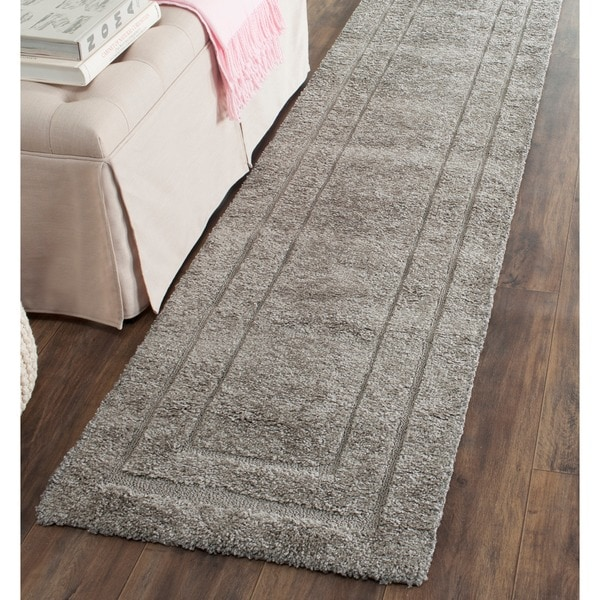 Safavieh Shadow Box Ultimate Grey Shag Rug (2'3 x 7')