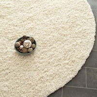 Safavieh California Cozy Plush Ivory Shag Rug (6' 7 Round)