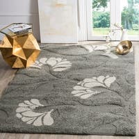 Ultimate Dark Grey/ Beige Shag Rug (6' 7 Square)
