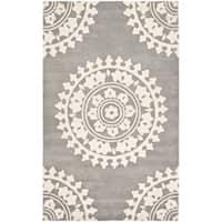 Safavieh Handmade Soho Chrono Grey/ Ivory N. Z. Wool Rug - 9'6 x 13'6