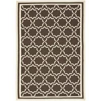 Safavieh Moroccan Chocolate/Ivory Reversible Dhurrie Wool Area Rug - 5' x 8'