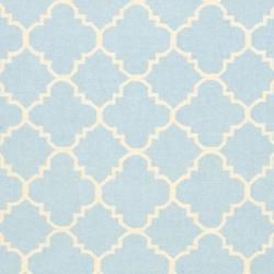 Safavieh Moroccan Light Blue/Ivory Reversible Dhurrie Transitional Wool Rug (10' x 14') - Thumbnail 2
