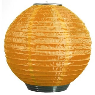 Orange Solar-powered Soji Lantern