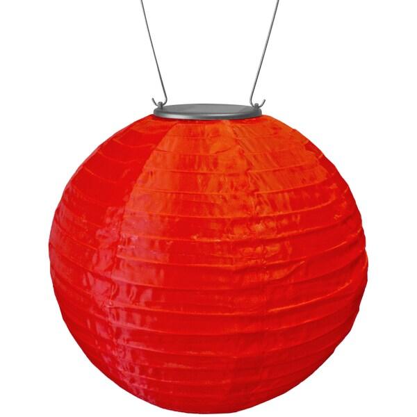 Red Solar-powered Soji Lantern