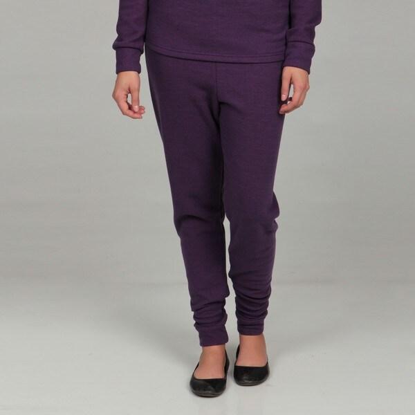 Kenyon Women's Purple Thermal Wool-blend Leggings