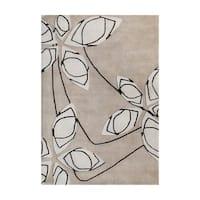 Alliyah Handmade Cuban Sand New Zealand Blend Wool Rug (8' x 10') - 8' x 10'