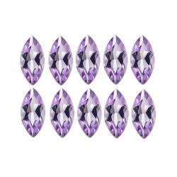 Glitzy Rocks Marquise-cut 4x2mm 0.80ct TGW Amethyst Stones (Set of 10)