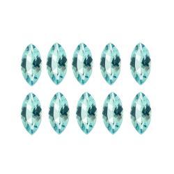 Glitzy Rocks Marquise 4x2mm 1ct TGW Blue Topaz Stones (Set of 10)