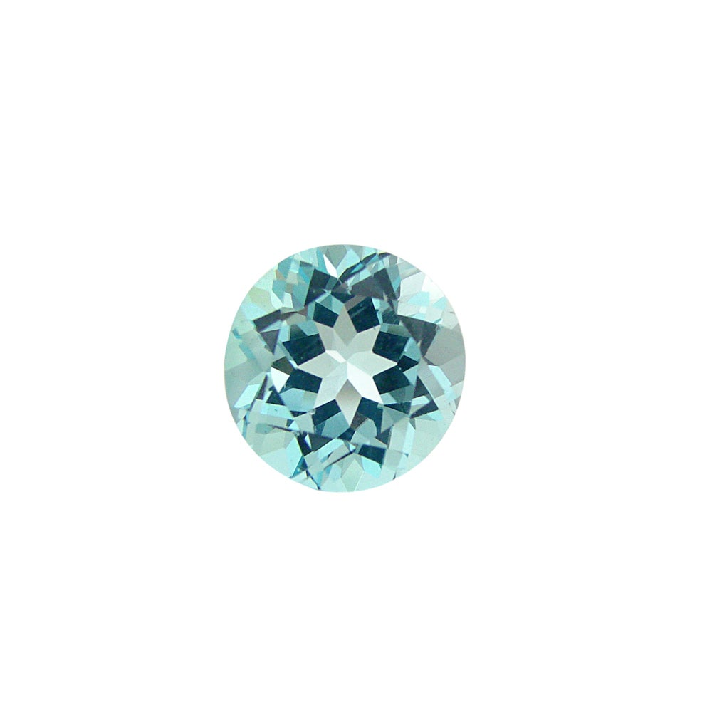 Blue Topaz Stone : Glitzy rocks round mm ct tgw blue topaz stone free
