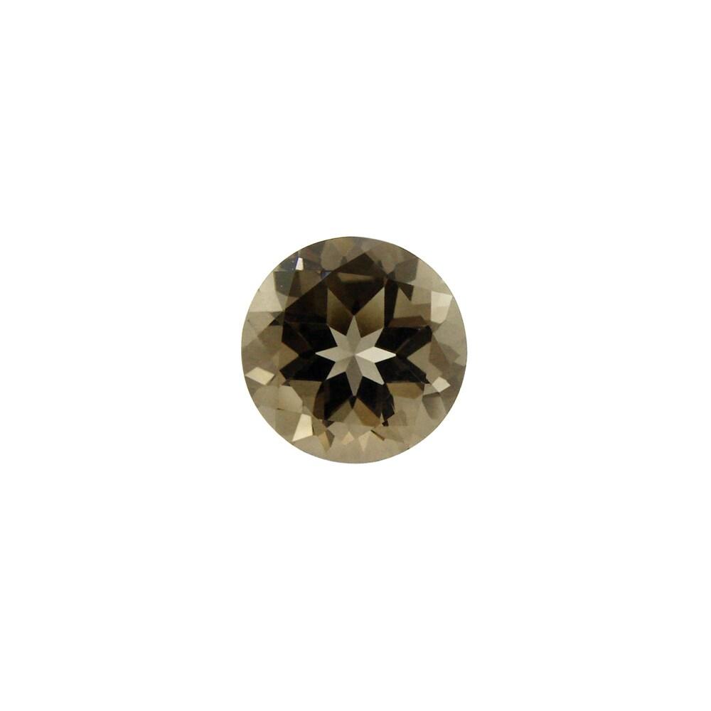 Glitzy Rocks Round 9mm 1.85ct TGW Smokey Quartz Stone