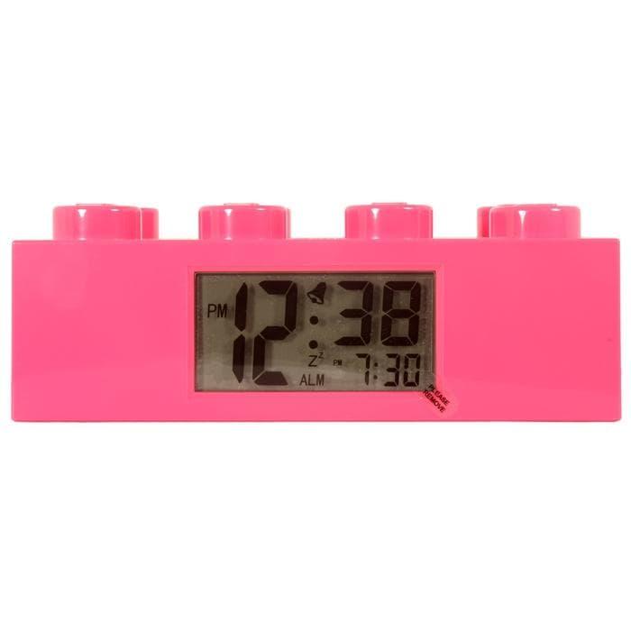 Lego Pink Brick Clock