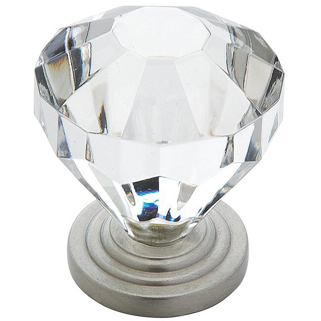 Shop Amerock 1 375 Inch Crystal Look Cabinet Knob Pack Of