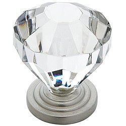amerock 1375inch crystallook cabinet knob pack of 5