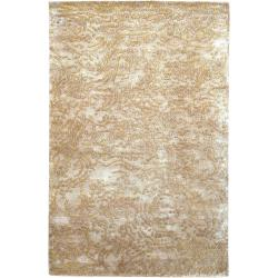 Hand-knotted Kenilworth Abstract Design Wool Area Rug - 5' x 8' - Thumbnail 0