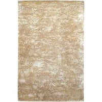 Hand-knotted Kenilworth Abstract Design Wool Area Rug - 5' x 8'