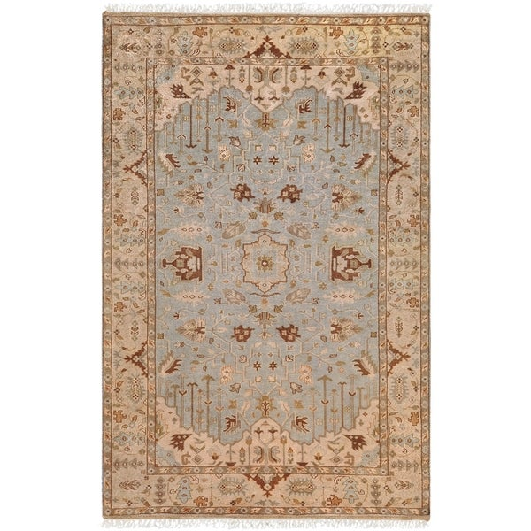 Hand-knotted Corringham Semi-worsted New Zealand Wool Area Rug - 9' x 13'