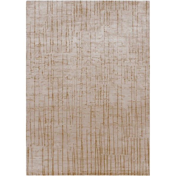 Hand-knotted Kendal Abstract Design Wool Area Rug - 8' x 11'