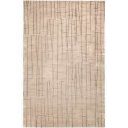Hand-knotted Hythe Abstract Design Wool Rug (8' x 11')